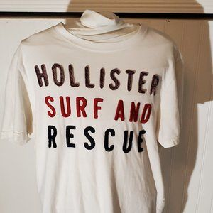 Hollister T shirt with stitch letters
